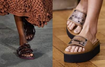 Слайдеры – актуальная обувь этого лета: какие изделия представили дизайнеры