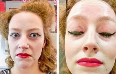 Бідні дівчата: 10 прикладів дивного макіяжу, який насмішив усіх – фото
