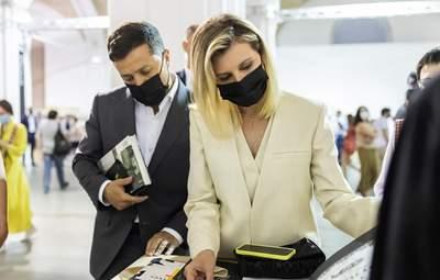 Подружжя Зеленських відвідало Книжковий Арсенал: фантастичний вихід першої леді