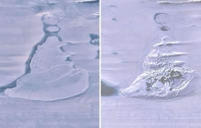 В Антарктиді раптово зникло велике крижане озеро