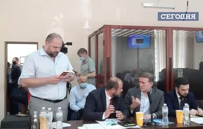 Медведчук и его защита нарушают карантин в суде: фото