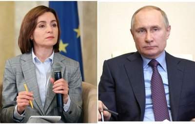 Санду хоче поговорити з Путіним про виведення російських військ з Придністров'я