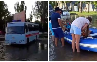 Оказались в ловушке: в Одессе из-за непогоды пришлось спасать 12 детей