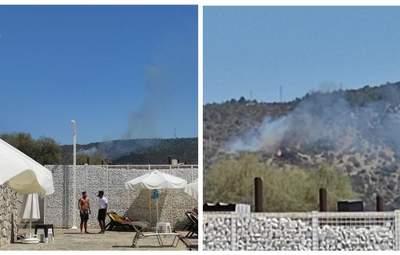 Біля курортного Бодрума у Туреччині знову спалахнула пожежа: фото й відео займання