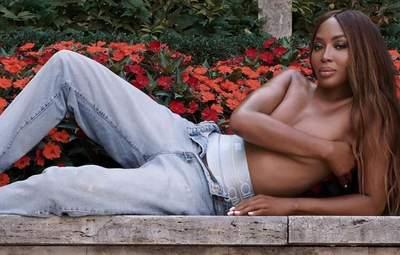 51-річна Наомі Кемпбелл знялася топлес для реклами Calvin Klein: кадри в новій колекції