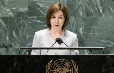 Санду в ООН закликала Росію забрати всі свої війська з Придністров'я