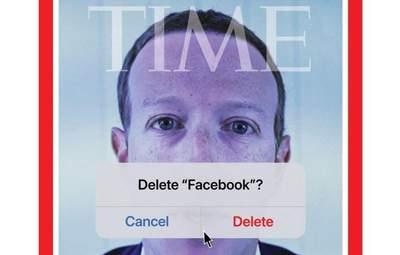 """Закрили рот Цукербергу й """"видалили"""" Facebook: нова обкладинка TIME викликала резонанс у мережі"""