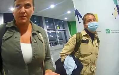 """""""Туалет і покурить"""": з'явилося відео затримання Надії Савченко з підробним COVID-сертифікатом"""