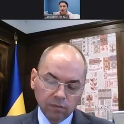 Кандидат на главу НСЗУ выложила видео собеседования, которое проводил Степанов