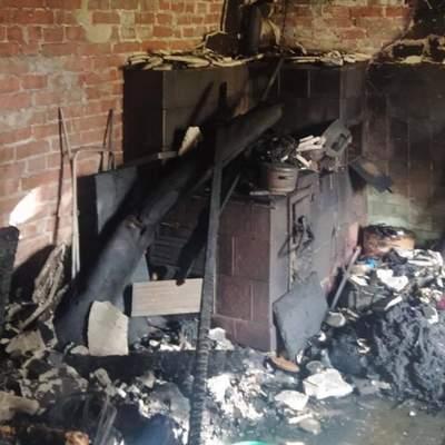 Біля Львова трапилась жахлива пожежа: загинув чоловік – фото згарища