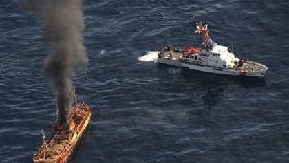 """США затопили японский """"корабль-призрак"""""""