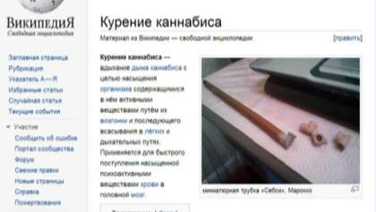 """""""Вікіпедію"""" в Росії внесли до """"чорного списку"""" через канабіс"""