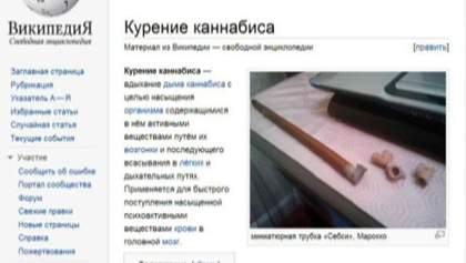 """""""Википедию"""" в России внесли в """"черный список"""" из-за канабиса"""