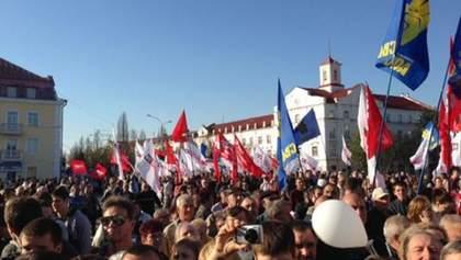 В опозиції кажуть, що зібрали на мітинг в Чернігові 5 тисяч людей (Фото)