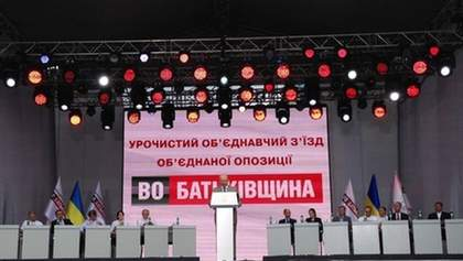 """На съезде """"Батькивщины"""" приняли резолюцию: от власти требуют освободить Тимошенко"""