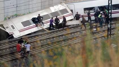 Аварія на залізниці в Іспанії забрала вже 80 життів