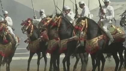 В Марокко показали 750 чистокровных лошадей