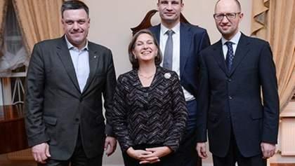 Лидеры оппозиции пообщались с Нуланд