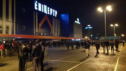 У Львові заблокували гіпермаркет Гереги (Відео)