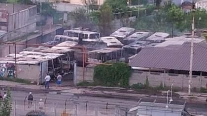 """В Днепропетровске сгорели 18 автобусов """"правой руки"""" Царева, - Филатов"""