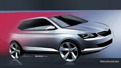 Skoda намекнула на дизайн новой Fabia