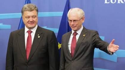 ЄС дасть адекватну оцінку діям РФ на Донбасі, — Ромпей на зустрічі з Порошенком