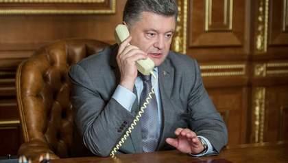 Порошенко обговорив з Путіним газове питання та припинення вогню