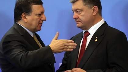 Баррозу запевнив Порошенка у готовності ЄС перерахувати 760 млн євро до кінця року