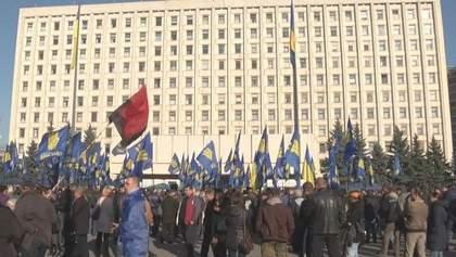 """Сьогодні """"свободівці"""" мітингували, вимагаючи від ЦВК перерахунку голосів"""