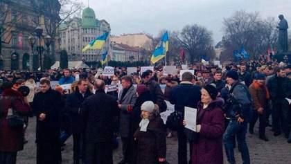 Львів'яни вшановують жертв теракту під Волновахою (Стрім)