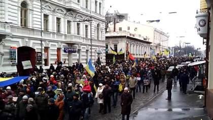 Акции солидарности против терроризма состоялись по всей Украине
