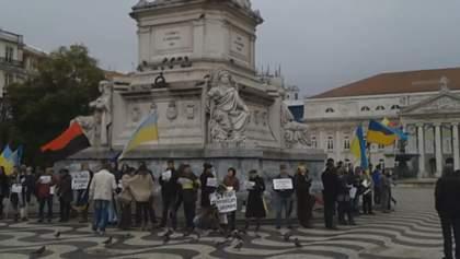 Португальские украинцы присоединились к Маршу Солидарности