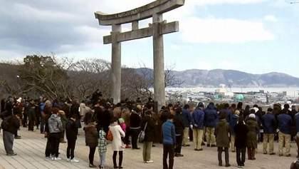 Япония почтила 16 тысяч погибших в результате землетрясения и цунами 4 года назад