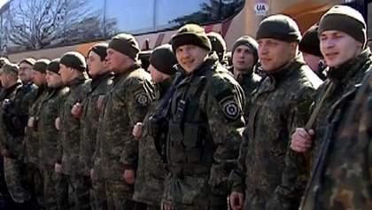 У Вінниці зустріли міліціонерів, які повернулись з АТО