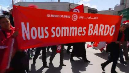 Олланд, Комаровський та Ренці взяли участь у антитерористичному марші в Тунісі