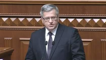 Без вільної України не буде стабільної і безпечної Європи, — Коморовський