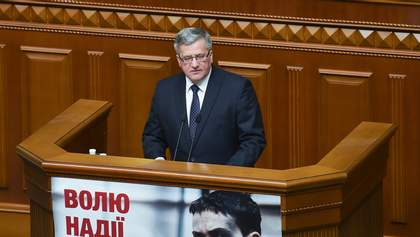 Коморовський вперше виступив у Раді: Топ-цитати (Інфографіка)