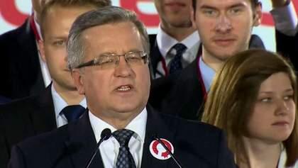 Вибори в Польщі: Коморовський змагатиметься за крісло президента у другому турі