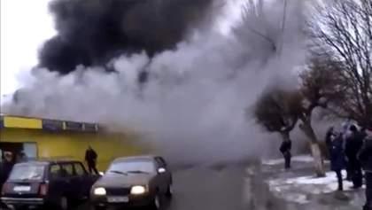 В Днепропетровской области загорелся рынок