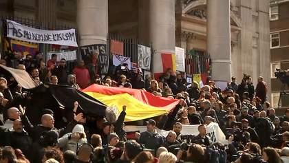 Праві радикали влаштували сутички біля меморіалу жертв терактів у Брюсселі