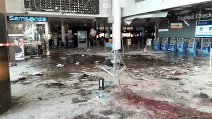 Лужи крови и обугленные стены: аэропорт Брюсселя через неделю после терактов