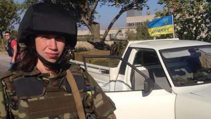 Фотофакт: Татьяна Чорновол взялись за оружие в зоне АТО