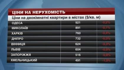 Жилье в областных центрах Украины дешевеет