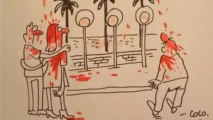 Charlie Hebdo создал карикатуру на теракт в Ницце