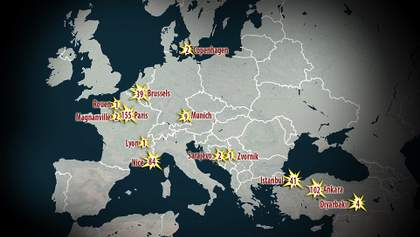 Скільки людей постраждало від тероризму в Європі