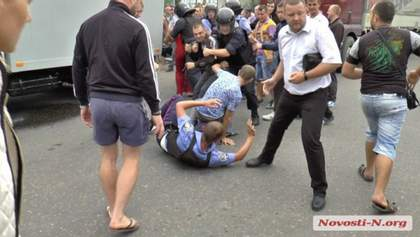 Появилось видео бунта из-за убийства местного жителя на Николаевщине