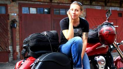 Анна Гречишкина – украинка, которая отправилась в кругосветное путешествие на мотоцикле