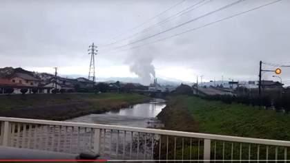 Появилось видео цунами в Японии