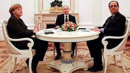 Путін поговорив з Меркель та Олландом про Донбас і полонених