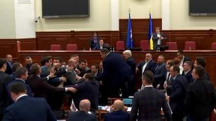Свободовцы спровоцировали драку в Киевсовете